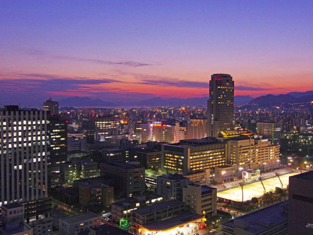 Hiroshima Twilight アーバンビュー広島タワーより