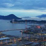 梅雨時の広島湾夕景