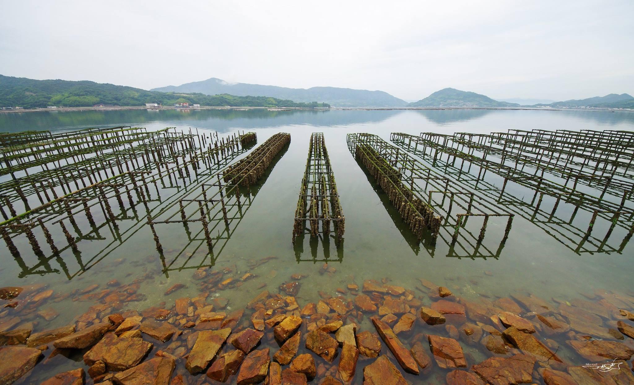 梅雨空の江田島湾